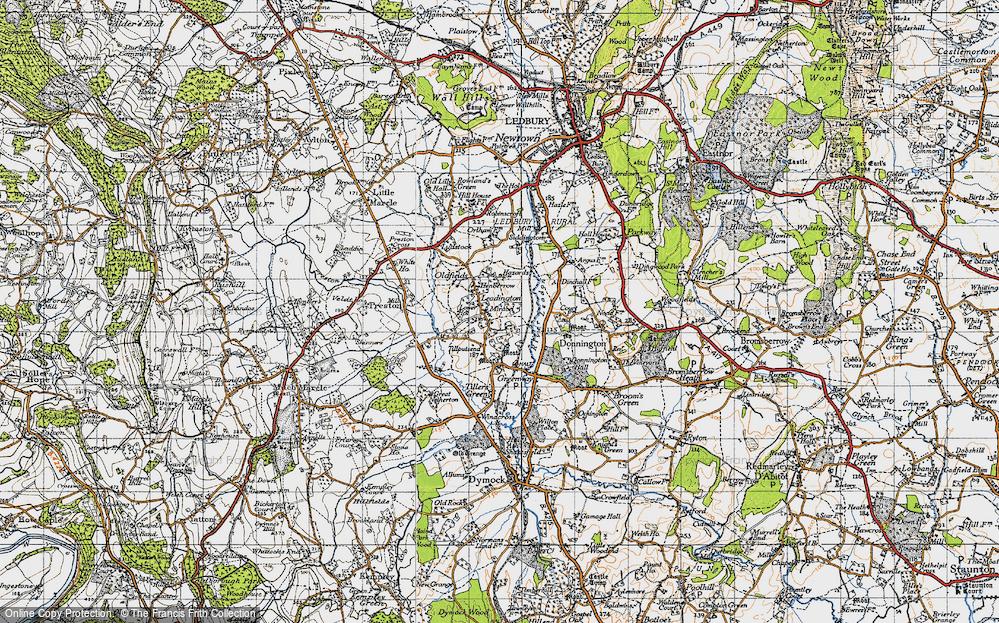 Old Map of Leddington, 1947 in 1947