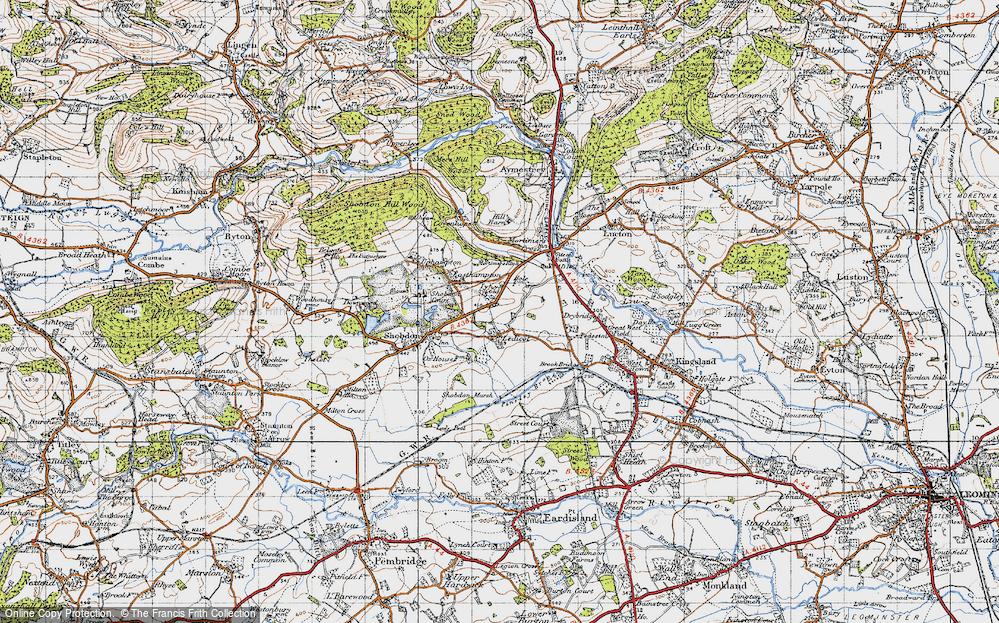Old Map of Ledicot, 1947 in 1947