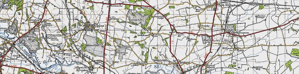 Old map of Ledsham in 1947