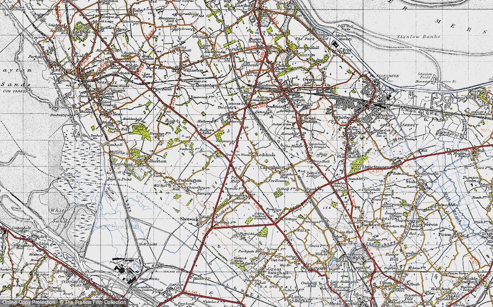 Old Map of Ledsham, 1947 in 1947