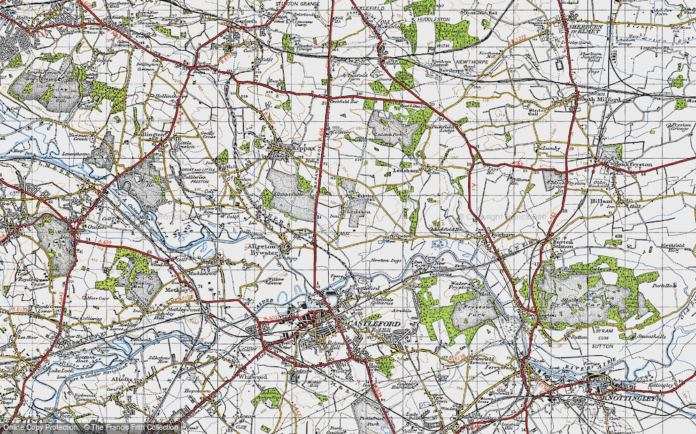 Old Map of Ledston, 1947 in 1947