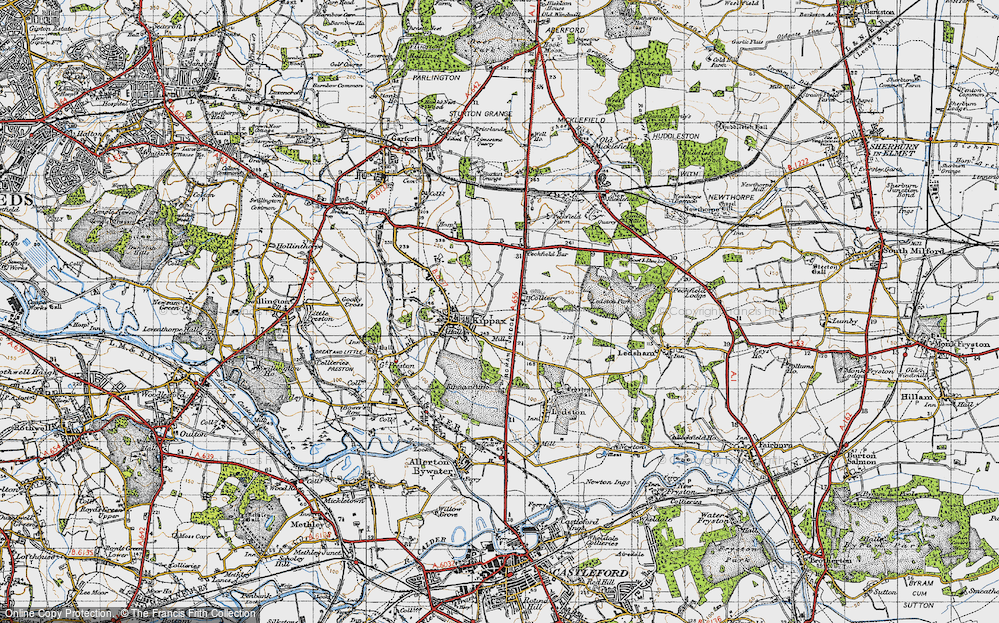 Old Map of Ledston Luck, 1947 in 1947