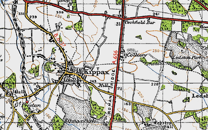 Old map of Ledston Luck in 1947