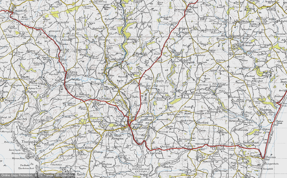 Old Map of Ledstone, 1946 in 1946