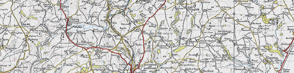 Old map of Ledstone in 1946