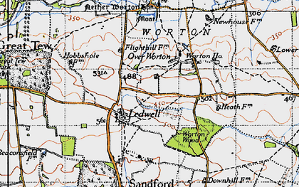 Old map of Ledwell in 1946