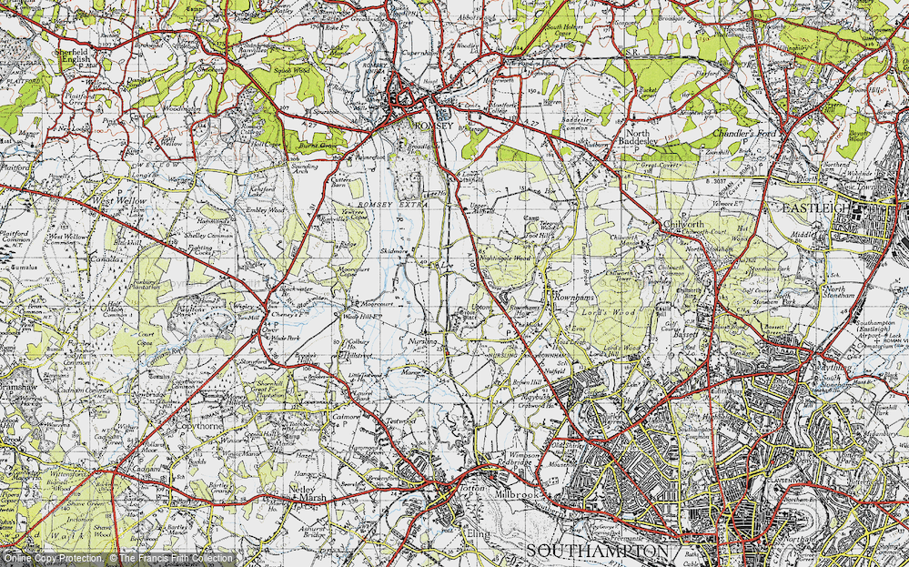 Old Map of Lee, 1945 in 1945