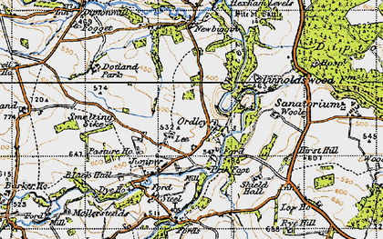 Old map of Linnel Wood in 1947