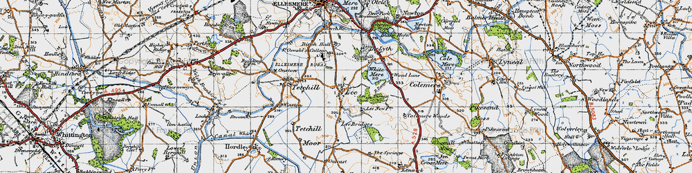 Old map of Lee in 1947