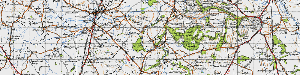 Old map of Lee Brockhurst in 1947