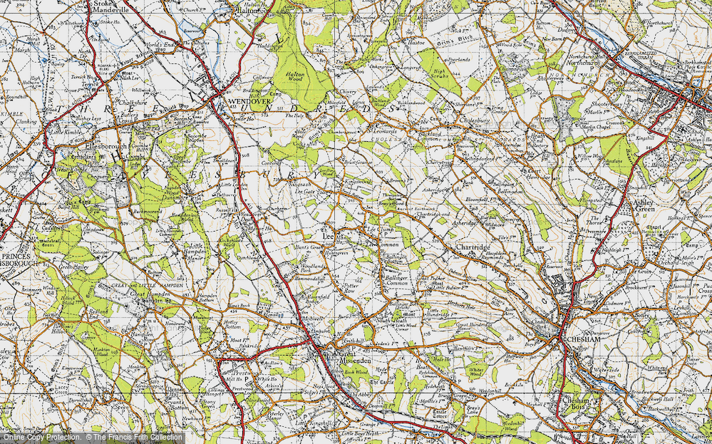 Old Map of Lee Common, 1946 in 1946