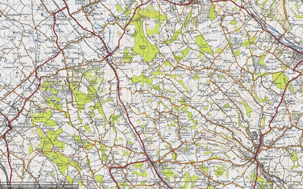 Old Map of Lee Gate, 1946 in 1946