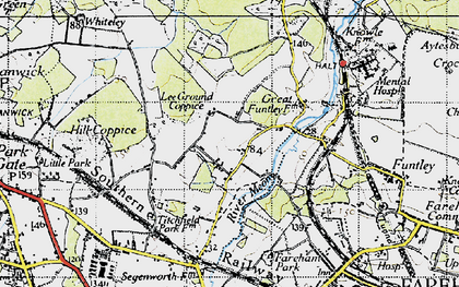 Old map of Lee Ground in 1945