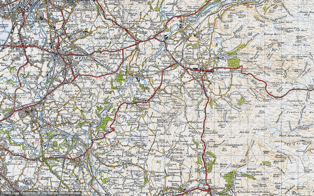 Old Map of Lee Head, 1947 in 1947