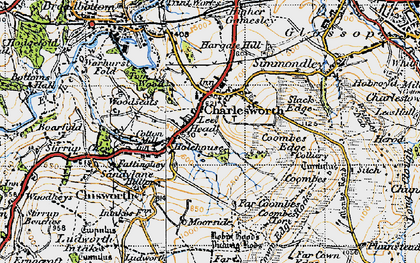 Old map of Lee Head in 1947