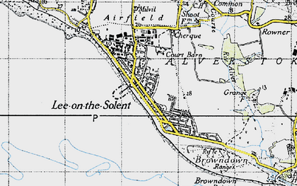 Old map of Lee-on-the-Solent in 1945
