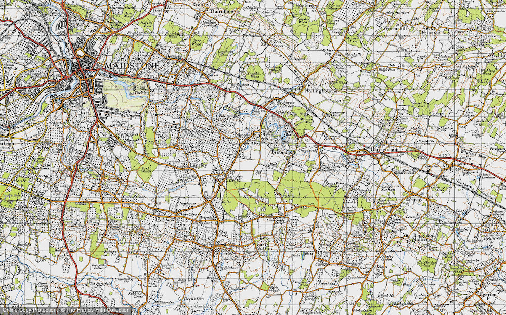 Map of Leeds 1940 Francis Frith