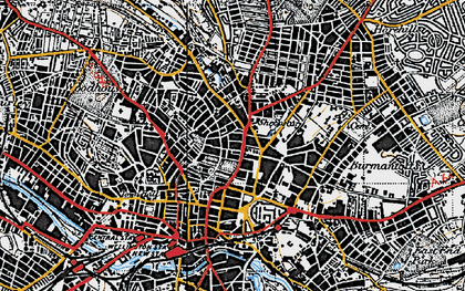 Old map of Leeds in 1947