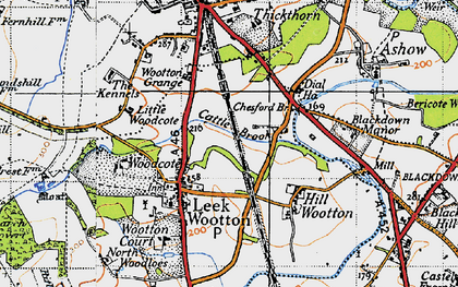 Old map of Larch Covert in 1946