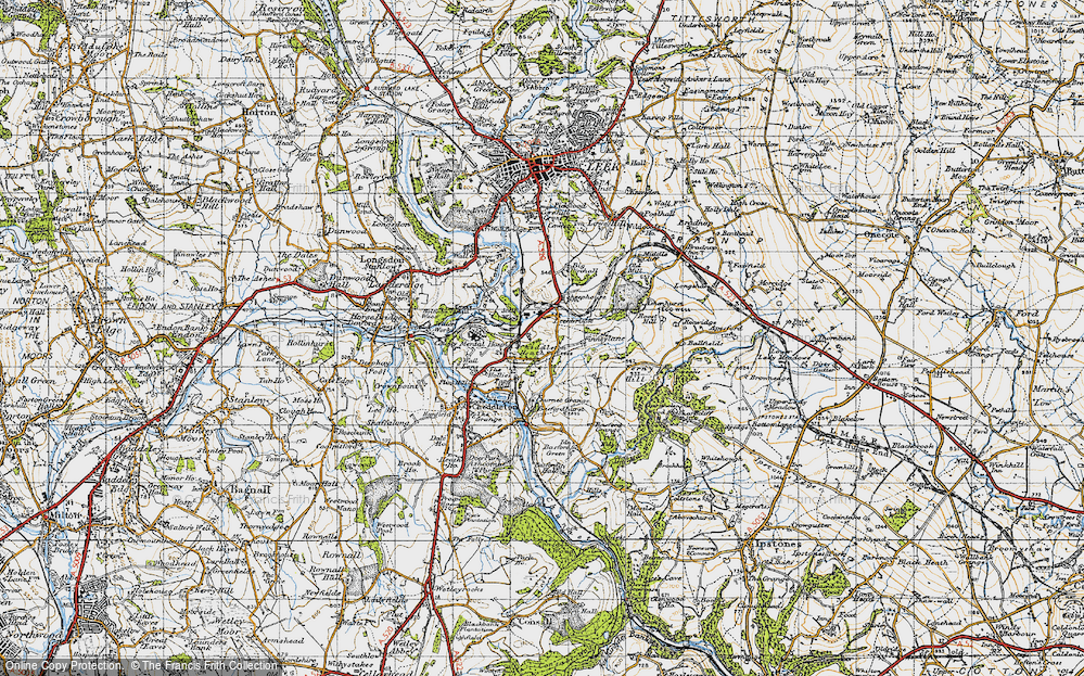 Old Map of Leekbrook, 1946 in 1946