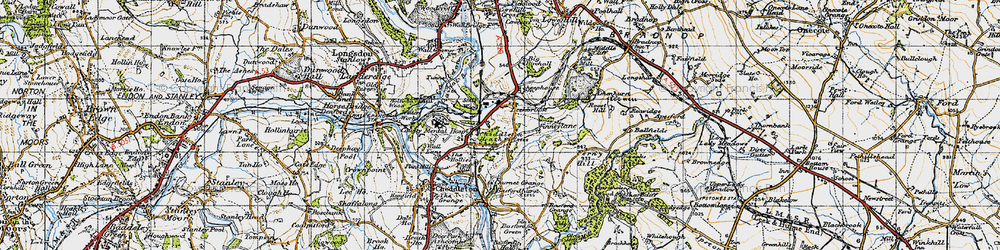 Old map of Leekbrook in 1946