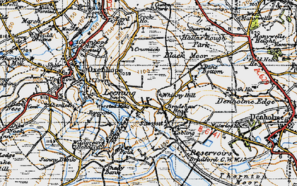 Old map of Leeming in 1947