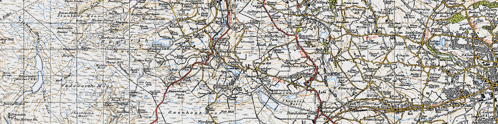 Old map of Whinny Hill in 1947