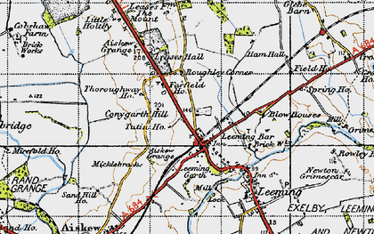 Old map of Leases Grange in 1947