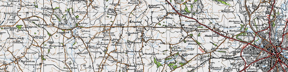 Old map of Lees in 1946