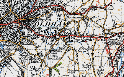 Old map of Lees in 1947
