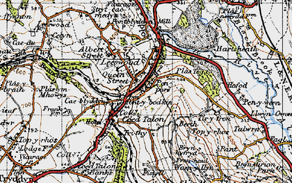 Old map of Leeswood in 1947