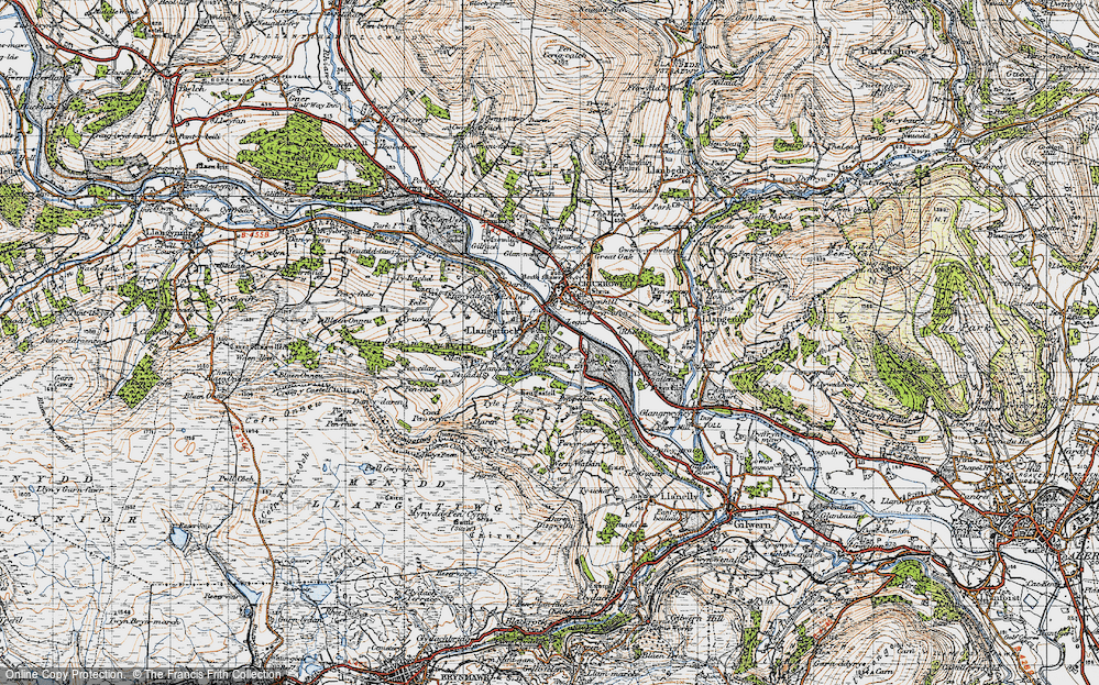 Old Map of Legar, 1947 in 1947