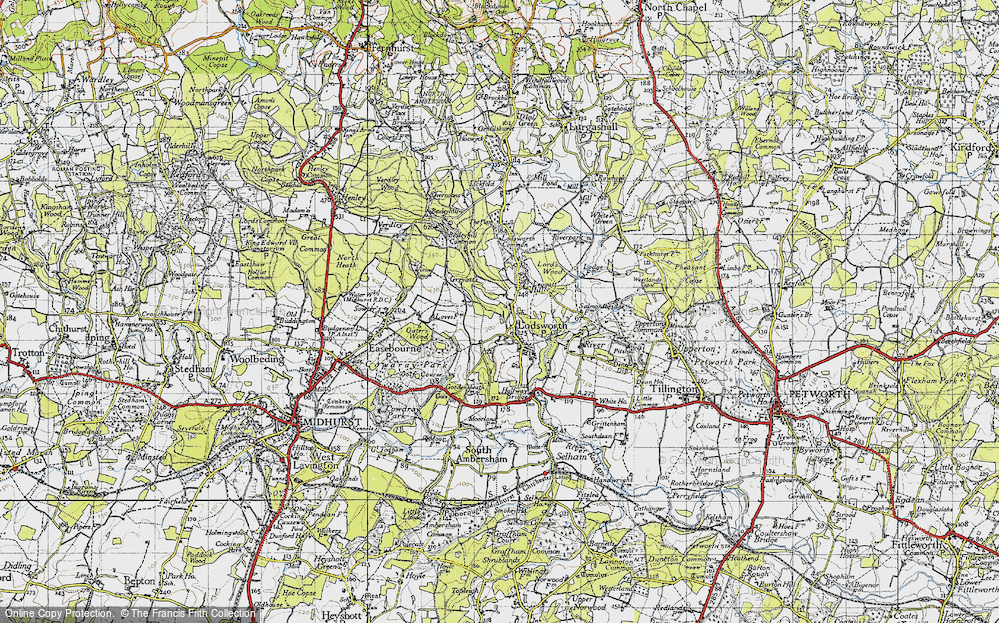 Old Map of Leggatt Hill, 1940 in 1940