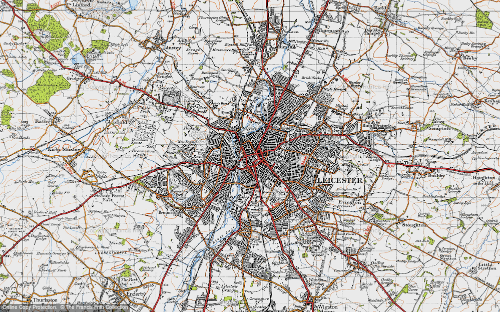 Old Map of Leicester, 1946 in 1946