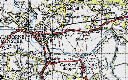 Old map of Leigh in 1940