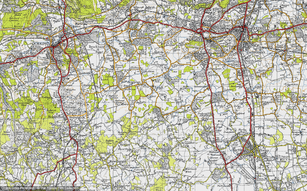 Old Map of Leigh, 1940 in 1940