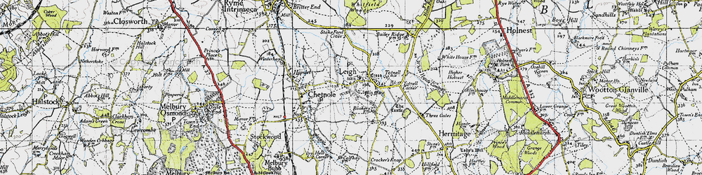 Old map of Leigh in 1945