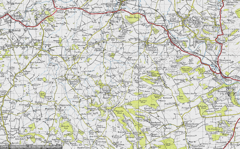 Old Map of Leigh, 1945 in 1945