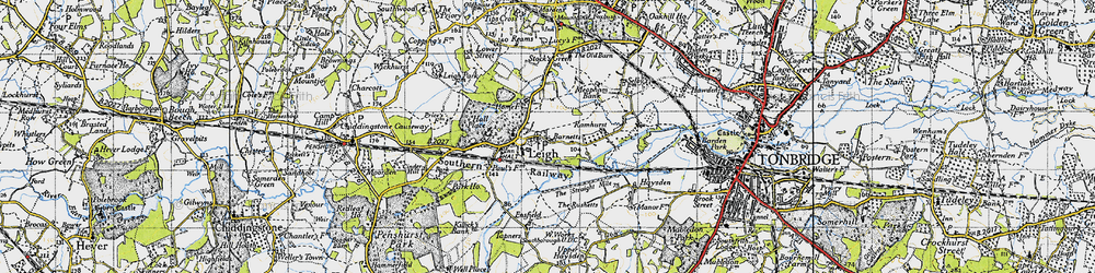 Old map of Leigh in 1946