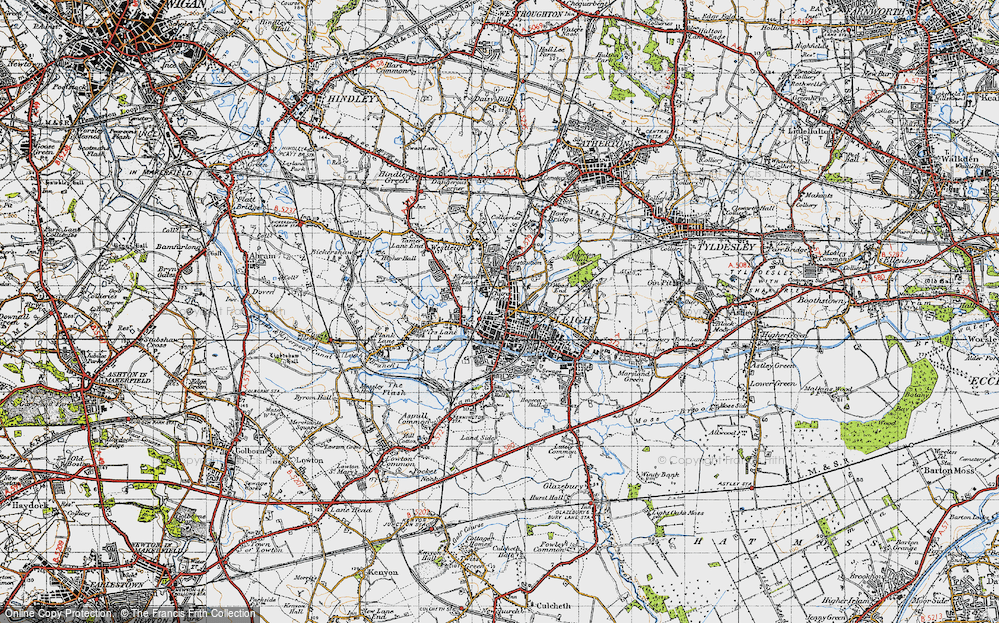 Old Map of Leigh, 1947 in 1947