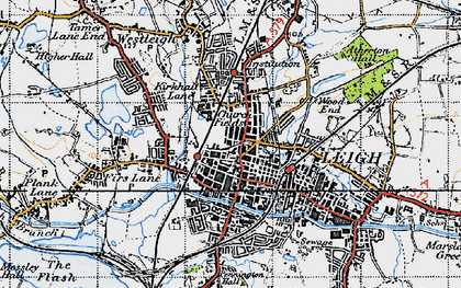 Old map of Leigh in 1947