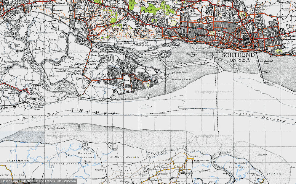 Old Map of Leigh Beck, 1946 in 1946