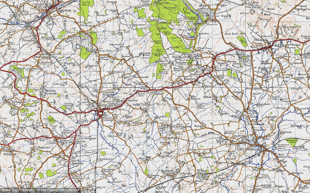 Old Map of Leigh Common, 1945 in 1945