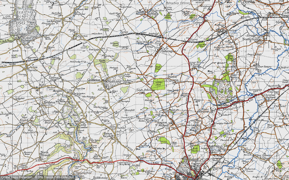 Old Map of Leigh Delamere, 1946 in 1946