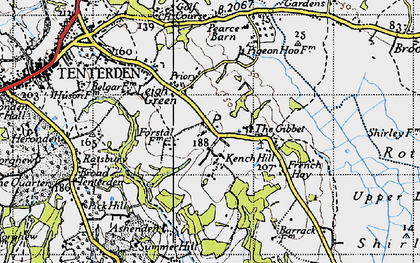 Old map of Leigh Green in 1940