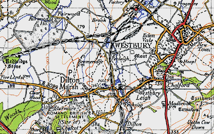 Old map of Leigh Park in 1946