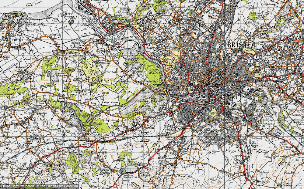 Old Map of Historic Map covering Aston Court Estate in 1946