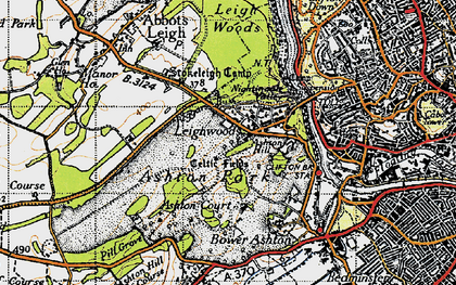 Old map of Aston Court Estate in 1946