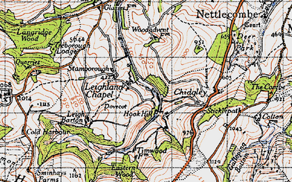 Old map of Leighland Chapel in 1946