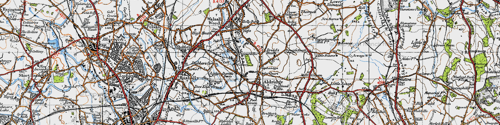 Old map of Leighswood in 1946